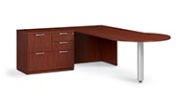 "Combo drawer credenza with ""P"" top conference table"