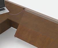 Panels Tilt for Wall Connections Modesty Panels in desks, bridges, returns, credenzas