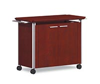 With the Serving Cart easily move food, beverages and serving supplies from kitchen to conference room or office.