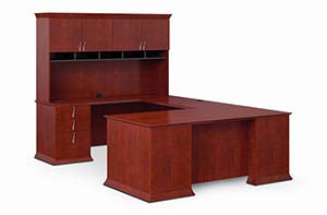 Executive Task Unit and Upper Bookcase with Organizer