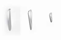 Prominence drawer pulls have a unique design and a Satin Nickel finish.