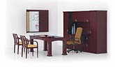 Transitional executive table desk office suite