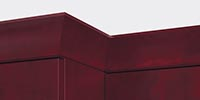 Upper cornice trim on Prominence wall units fits precisely thanks to careful attention in design and manufacturing.