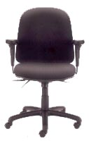 mid back task chair with arms