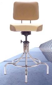 FULLY ADJUSTABLE TILT BACK stool IN CHROME