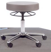 medical stool with height adjustment ring