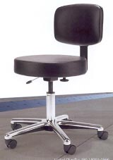 medical stool with back rest